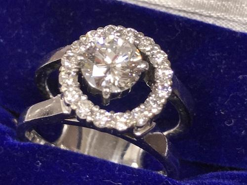 ダイヤモンド買取 Pt900 3.40 1.42 ダイヤモンドプラチナリング買取マルカ(MARUKA)