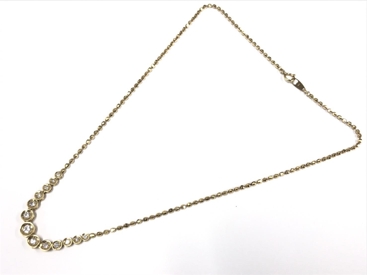 K18イエローゴールドダイヤモンドネックレス2.00ct買取18金東京渋谷