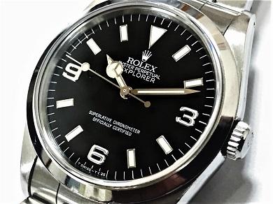 ロレックス エクスプローラー買取 メンズ時計 黒文字盤 14270 大阪ロレックス買取