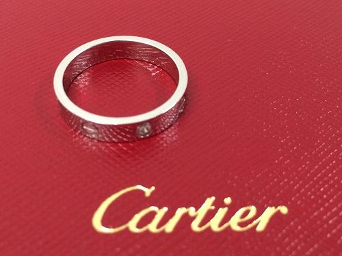 カルティエ Cartier ミニラブリング 750WG 1PD ダイヤモンド 買取 渋谷