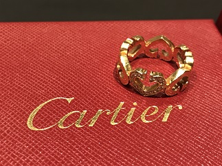 Cartier カルティエ Cハートリング ダイヤモンド ブランドジュエリー買取 質屋 福岡 天神 博多
