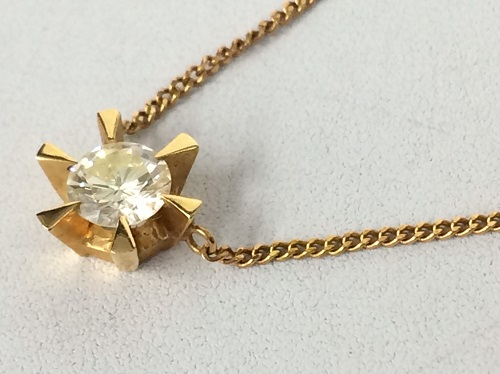 ダイヤモンドネックレス 18金 K18 0.4ct 立爪 750 レディース 北山店 金買取 宝石買取 北区エリア