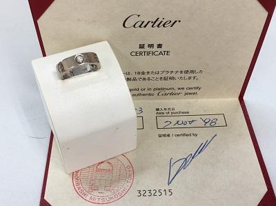 カルティエ(CARTIER)  ラブリング ハーフダイヤ 750WG ♯53 カルティエ買取 三宮 元町 神戸