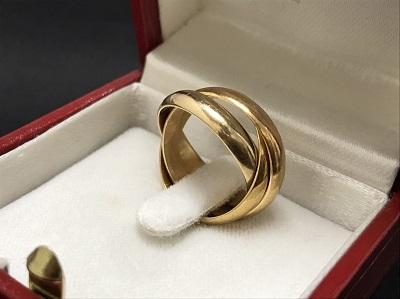 Cartier カルティエ トリニティリング 750 ジュエリー 高価買取 宅配買取 西日本