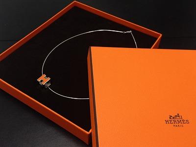 エルメス(HERMES) Hキューブネックレス 925 オレンジ 高価買取り マルカ渋谷 渋谷