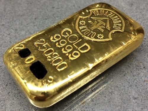 インゴット 250グラム K24 純金 999.9 金塊 ヤマザキ GOLD 北山店 マルカ 金買取