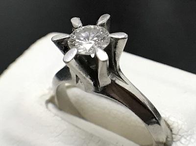 ダイヤモンド 0.41ct リング Pt900 プラチナ 宝石 高価買取 七条店