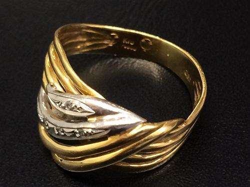 ダイヤリング 金 プラチナ K18 Pt900 4.2グラム 貴金属 アクセサリー レディース 北山店 マルカ ダイヤ買取