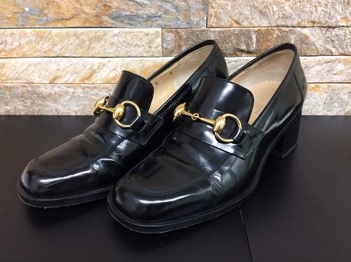 グッチ(GUCCI)パンプス エナメル素材 レザー ブラック レディース 靴 北山店 ブランド買取 北区周辺
