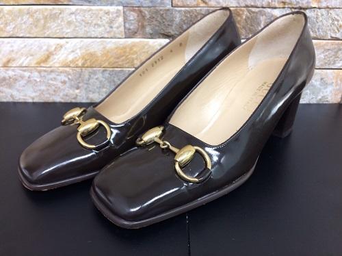 グッチ(GUCCI)パンプス エナメル素材 レザー ブラック レディース 北山店 靴買取 左京区エリア