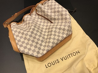 LOUIS VUITTON ルイヴィトン ノエ ダミエ アズール N41220 ブランドバッグ買取 福岡 天神 博多