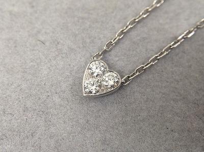カルティエ Cartier ミニハートオブカルティエ 750WG 3Pダイヤモンド 買取 渋谷