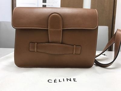 CELINE セリーヌ シンメトリカル ボックスカーフ キャメル 美品 高価買取 七条店