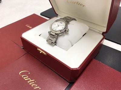 Cartier カルティエ パシャC メリディアン GMT 腕時計 レディース 高価買取 七条店