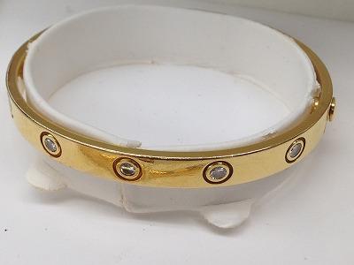 カルティエ(Cartier) ラブブレスレット フルダイヤモンド イエローゴールド ブランドジュエリー