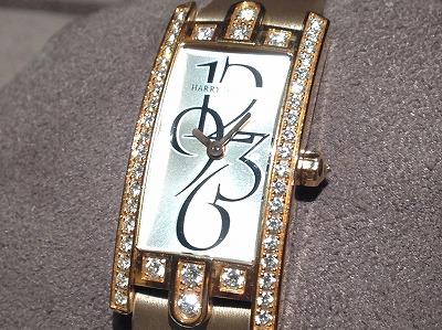 ハリーウィンストン(HARRY WINSTON) アヴェニューCミニ ダイヤモンド ピンクゴールド 時計