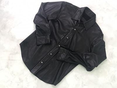 クロムハーツ(CHROME HEARTS) レザーシャツ クロスボタン バックフレアニー M クロムハーツ買取 三宮 元町 神戸