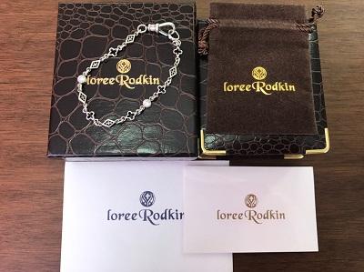 ローリーロドキン (Loree Rodkin) オープンゴシック2ストーンチェーンブレスレット LS3907-886 ローリー ロドキン買取 三宮 元町 神戸
