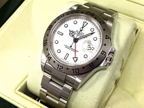 ロレックス(ROLEX) エクスプローラーⅡ SS 16570 中古品 白文字盤 腕時計