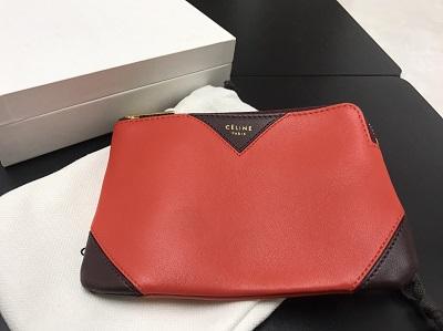 CELINE セリーヌ コインケース レザー バイカラー 赤×黒 美品 高価買取 出張買取