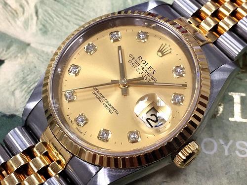 ロレックス(ROLEX) デイトジャスト 16233G 10Pダイヤモンド W番 箱