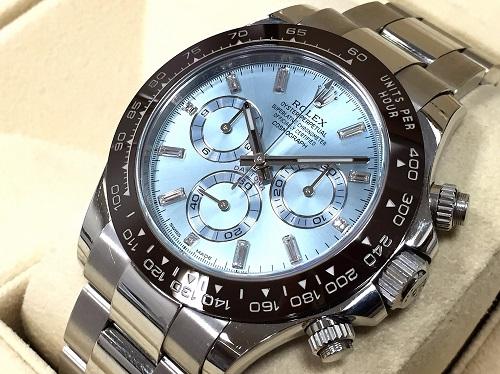 ロレックス(ROLEX) コスモグラフデイトナ 116506A プラチナ ダイヤモンドインデックス 高級時計