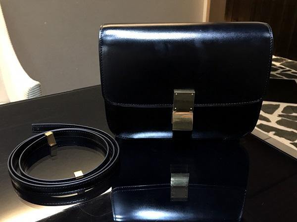 セリーヌ クラシックボックス ボックスカーフ ブラック
