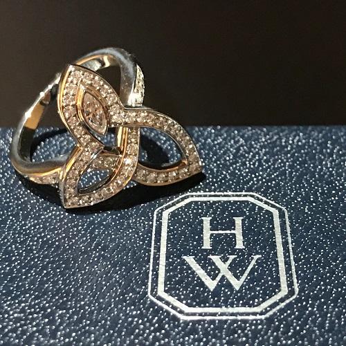 ハリーウィンストン(HARRY WINSTON) リリークラスターリング Pt950 ダイヤモンド