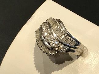 ダイヤモンドリング プラチナ 貴金属 宝石 ジュエリー買取 福岡 天神 博多