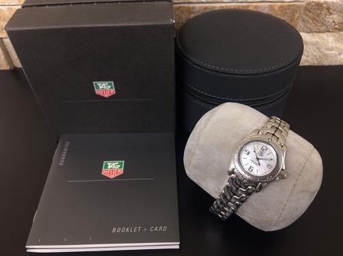 タグホイヤー(TAGHEUER)リンク ステンレス シェル文字盤 レディース 腕時計 京都北山店 ブランド時計買取