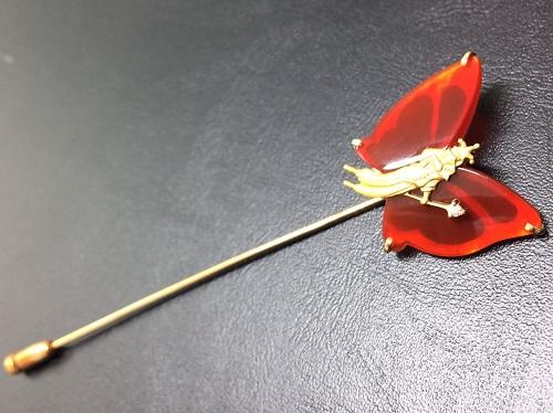 メノウ ブローチ K18 カルセドニー 750 宝石 ジュエリー 薫子 京都北山店 金売却 プラチナ売却