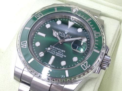 ロレックス(ROLEX)サブマリーナデイト 116610LV グリーンサブ 腕時計