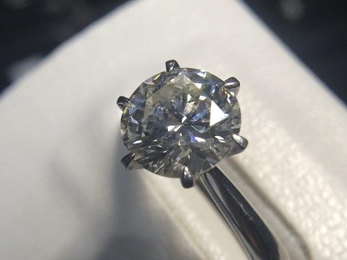 プラチナダイヤリング ダイヤ 2.4カラット Pt900 宝石 指輪 西院 大宮