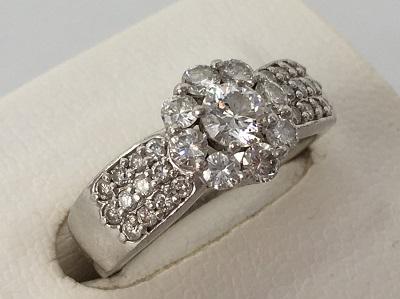 プラチナ ダイヤリング Pt900 1.04ct  6.8g 指輪 ダイヤモンド 宝石 宅配買取