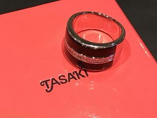 TASAKI タサキ オニキス ダイヤモンドリング K18WG ブランドジュエリー買取 質屋 福岡 天神 博多