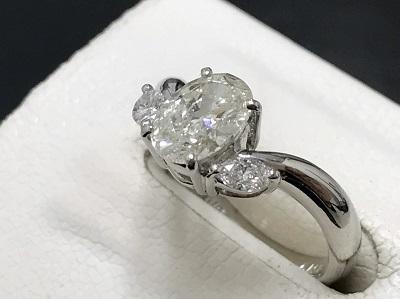 ダイヤモンド 1.015ct リング Pt900 プラチナ オーバル 宝石 高価買取 七条店