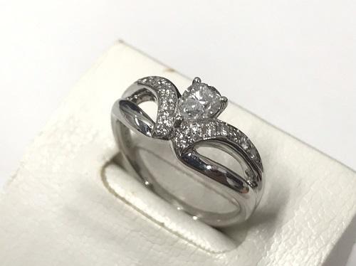 K18ホワイトゴールドダイヤモンド0.64cリング高額買取渋谷東京マルカ
