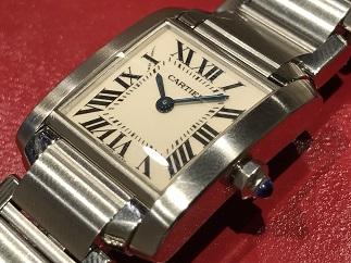 Cartier カルティエ タンクフランセーズSM W51008Q3 時計買取 質屋 福岡 天神 博多