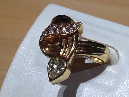 デザインリング ダイヤモンド 18金 宝石 強化買取