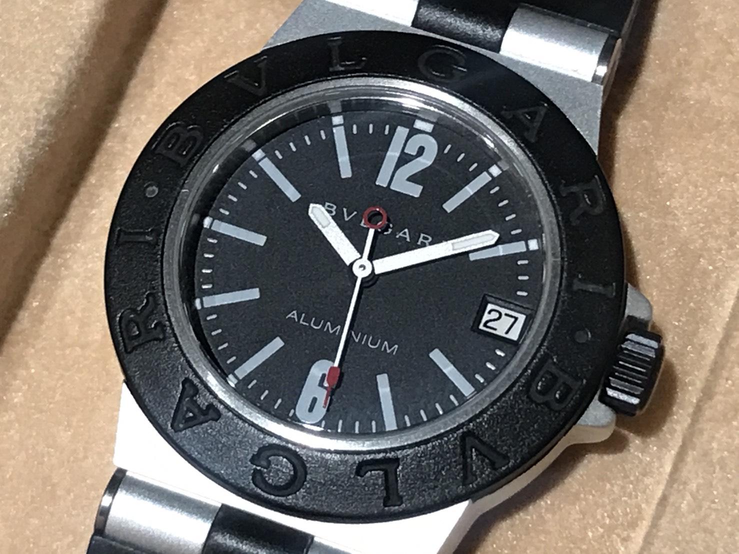 BVLGARI ブルガリアルミニウムAL32TAラバー/QZ渋谷時計買取