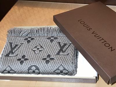 Louis Vuittonヴィトン エシャルプ モノグラム グレー M78524 渋谷 買取