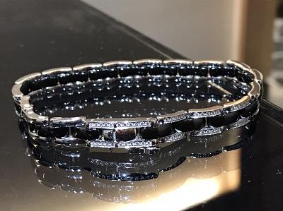シャネル(CHANEL)ウルトラコレクション フルダイヤ ブラックセラミック