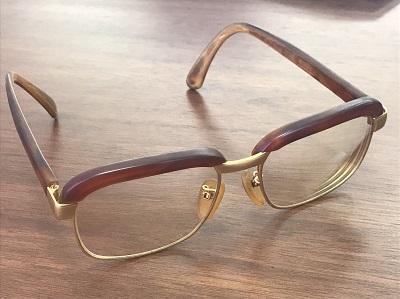 骨董品 眼鏡 べっ甲×K18 べっ甲買取 三宮 元町 神戸
