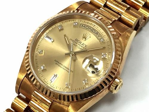 ロレックス(ROLEX) デイデイト 18238A 750イエローゴールド ダイヤインデックス 金無垢 時計
