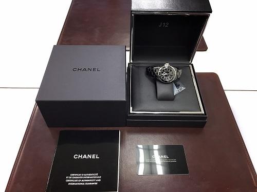 シャネル CHANEL J12 H0682 ブラック セラミック 買取 銀座