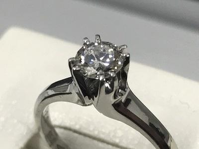 プラチナソリテール一粒ダイヤモンドリング0.56ctジュエリー 買取 横浜 渋谷