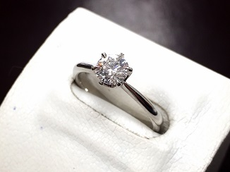 ダイヤモンド リング プラチナ 0.60カラット 宝石 ダイヤモンド買取 質屋 福岡 天神 博多
