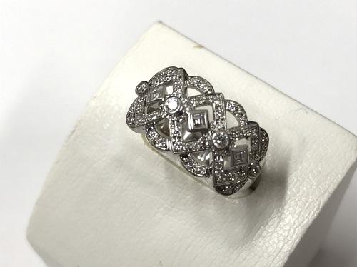プラチナPT900 ダイヤモンドリング0.5ct デザインリング 買取 ジュエリー 神奈川 マルカ