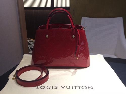 ルイヴィトン Louis Vuitton モンテーニュBB ヴェルニ M50170 買取 銀座