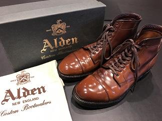 ALDEN オールデン キャップトゥブーツ タンカーブーツ 靴買取
